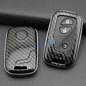 ABS Carbon Fiber Car Smart Key Cases Covers For Lexus IS ES LS GS RX GX LX CT HS