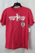 New  Funny Or Die Red T-Shirt Good Cop Baby Cop Size Medium