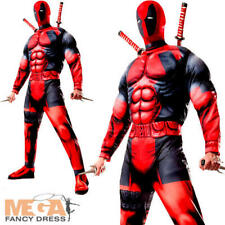 Deluxe Deadpool Mens Fancy Dress Marvel Comic Superhero Antihero Adults Costume