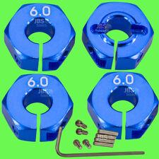 ► 1/10 ALU 6mm BLAU Radmitnehmer Rad Adapter 12mm Hex Sechskant Reifen Tuning