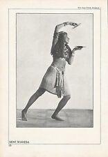 Sent M'Ahesa Letonian Dancer Original Halftone Double Sided 1920's