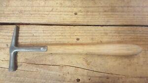 Vintage Cross Pein Strapback Tack Hammer, Upholstery/Leather Work, 170 grams