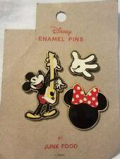 Disney  Mickey/ Minnie Enamel Pins By Junk Food