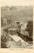 France, Yonne, Avallon, Vue prise de Cousin et le pont, ca.1905, vintage silver