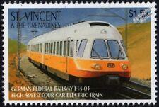 DB German Railways Lufthansa Class 403 Electric Multiple Unit EMU Train Stamp #2