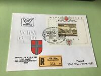 Austria Wipa 1981  registered Wien stamps cover ref 50584