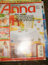 Anna Burda Ouvrages Manuels N°6 2002 Broderie Bébé Tricot Eté Créativité PATRON