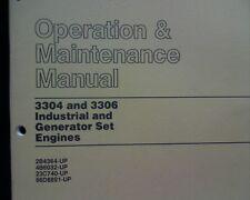 Caterpillar 3304, 3306 engines & Generator Owners Lubrication maintenance manual