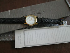 AVON MEN'S WATCH  NIB (1991) GENUINE LEATHER WRISTBAND-BLACK