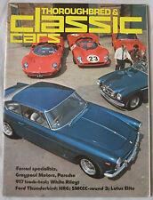Classic Cars 07/1975 featuring Porsche 917, Lotus Elite, Jaguar, Ford, HRG,Riley