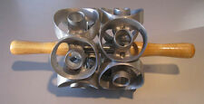 """1ea. 3-1/2"""" size two row jumbo donut cutter- cuts 10 cuts - new from factory"""