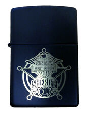 Zippo Harley Davidson Sheriff Black Matte Windproof Lighter NEW RARE