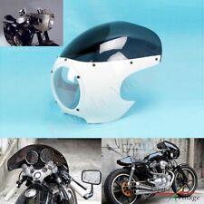 """5 3/4"""" Headlight Fairing Windshield Matt For Cafe Racer Drag Racing Viper Class"""