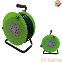 50M 4 WAY HEAVY DUTY EXTENSION CABLE REEL LEAD MAINS SOCKET SAFETY 13AMP PIFCO