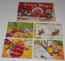 PACK DE 4 CROMOS-LA ABEJA MAYA -EDICIONES QUEL COM-123,217,282,288