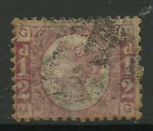 GB 1901 Queen Victoria ½d BROWN PLATE 6 Used