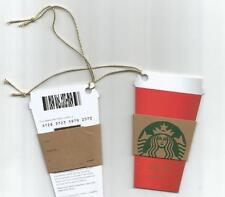 Starbucks UK Christmas 2016 tag Gift cards