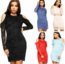 Lace Women's Polyester Cut Out Dresses
