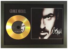 GEORGE MICHAEL 'OLDER' SIGNED GOLD DISC DISPLAY