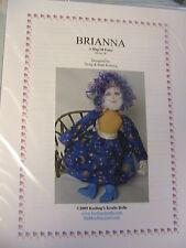 "BRIANNA~BARB & DOUG KEELING~18""~2005 WHIMSICAL, lovely cloth art doll pattern"