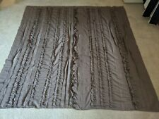 Taupe Ruffle and pleat Shower Curtain Lush