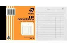 20 X Olympic #50 Docket Book Carbonless Duplicate 100x125mm 140990