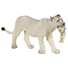"""Papo """"lioness With Cub"""" Figure (white) - 50203 Wild White Lioness Animal"""