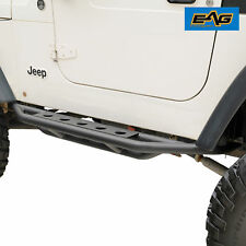 EAG 87-06 Jeep YJ TJ Wrangler Black Rocker Slider Nerf Step Side Armor Bar