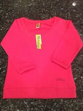 NWT Billabong Women's Cotton/Spandex Sweatshirt/Top, 3/4 Sleeve, Size M, Pink