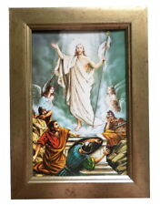 More details for beautiful framed resurrection of christ religious icon resuuezione of jesus