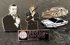 JAMES BOND 007 ENAMEL PIN BADGE COLLECTION x 5 - CARS UNIVERSAL EXPORTS MOORE