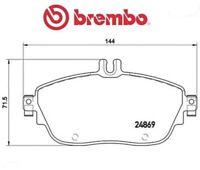 P50093 Kit pastiglie freno, Freno a disco (MARCA-BREMBO)