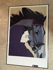 """RARE PATRICK NAGEL NEW MONTANA lithograph 24x36"""" OUT Of PRINT 1993 HORSE 🐴"""