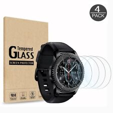 4 Premium Temper Glass Screen Protector For Samsung Gear S3 Frontier Smart watch