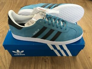 Adidas Originals Gazelle trainers - size UK11 - Hazy Blue/Black BNIB