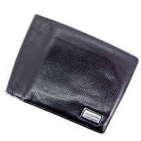 Dolce&Gabbana Wallet Purse Bifold Black Woman Authentic Used L249