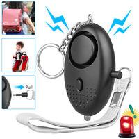 1/2 PCS Emergency Personal Alarm Keychain 130dB Safe Self-Defense with LED Light