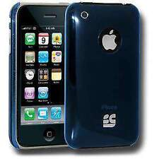 BLUE ULTRA SLIM HARD SHELL CLIP ON CASE COVER FOR iPHONE 3 3G 3G S