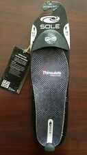 SOLE Insulated Ultra Insole Thinsulate footbeds Black/Grey, 1 Pair Mens Size 13