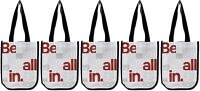 Lululemon Be All In Manifesto Reusable Shopping Lunch Bag Tote Set of 5 Totes