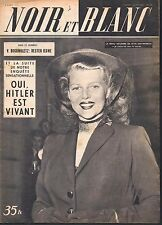 French Mag 1951 NOIR ET BLANC RITA HAYWORTH_MARGARET TRUMAN