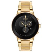 Citizen Men's Eco Drive AT2242-Axiom Chronograph Black Dial Bracelet 43mm Watch