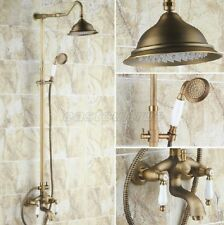 Antique Brass Bathroom Rainfall Shower Faucet Set Bathtub Mixer Tap ers242