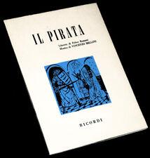 il pirata livret seul Romani opéra Bellini 1964