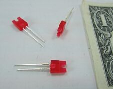 Lot 50 Everlight Red Rectangular LEDs, 6MM x 3MM Dished Concave Indicator 752HD