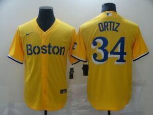 Men's Boston Red Sox David Ortiz #34 2021 City Connect Jersey Players