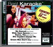 Karaoke CD+G - Country, Vol. 1 - New 2 CD Set, 30 Songs! (Best Karaoke Co.)