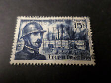FRANCE 1956 timbre 1052, COLONEL DRIANT, oblitéré, VF STAMP CELEBRITY