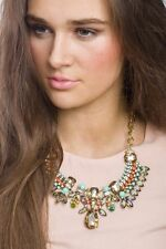 Necklace Statement Tribal Inspired Gem Pendant Design Fashion Style Jewelry