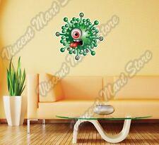 "Green One Eyed Monster Cartoon Funny Beast Wall Sticker Room Interior Decor 22"""